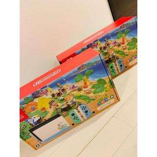 ニンテンドースイッチ(Nintendo Switch)の【Nintendo】Switch あつまれどうぶつの森セット 2台(家庭用ゲーム機本体)