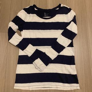 ギャップ(GAP)のGAP ネイビー ボーダー ロングTシャツ(Tシャツ(長袖/七分))