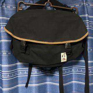 チャムス(CHUMS)のCHUMS バッグ ウエストバッグ 黒 革使用 シック(ボディーバッグ)