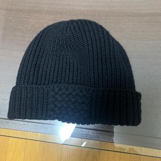 ルイヴィトン(LOUIS VUITTON)のルイヴィトン ブラック ニットキャップ ダミエ(ニット帽/ビーニー)