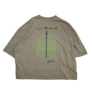 ジエダ(Jieda)のJieDa GEOMETRIC BIG PRINT T-SHIRT BEIGE(Tシャツ/カットソー(半袖/袖なし))