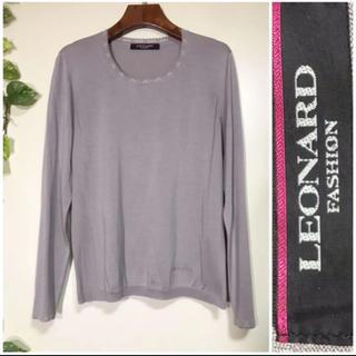 レオナール(LEONARD)の極美品⭐️ レオナール 最高級シルク&綿混 長袖ニット トップス 日本製(ニット/セーター)