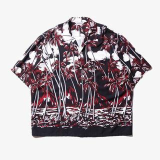クーティー(COOTIE)のcootie Palm Tree Open-Neck S/S Shirt M(シャツ)