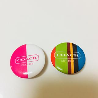COACH - コーチ❤️缶バッチ2個セット❤️