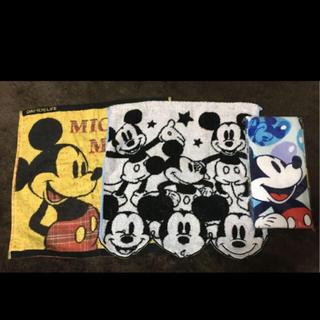 ミッキーマウス - ☆ ミッキーハンドタオル×2&フェイスタオル