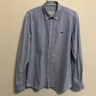 メゾンキツネ(MAISON KITSUNE')のひばり様 メゾンキツネ  BDシャツ maisonkitsuneブルー(シャツ)