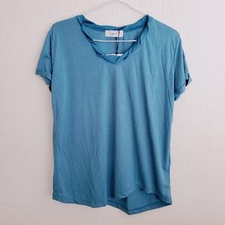 アバンリリー(Avan Lily)の【1198】AVAN LILY◇落ち着いたくすみブルー とろみTシャツ(Tシャツ(半袖/袖なし))