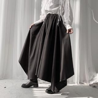 アンティカ(antiqua)のダークブラック イレギュラー 変形 ワイドパンツ 袴パンツ(その他)