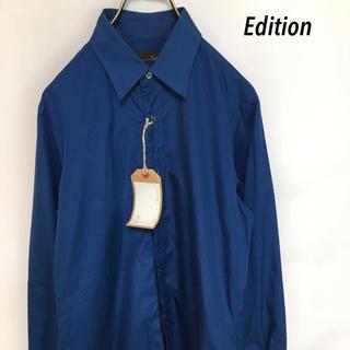 エディション(Edition)の新品 2018 Edition エディション 長袖 シャツ メンズ ブルー(シャツ)