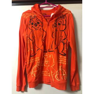 チップアンドデール(チップ&デール)のディズニー チップとデール パーカー M 橙色(パーカー)