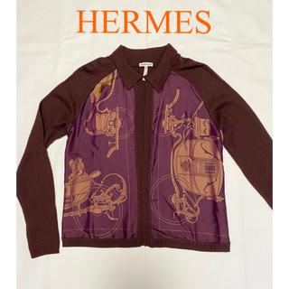 エルメス(Hermes)の極美品 HERMES 上品なカシミヤ カーディガン ニット(カーディガン)