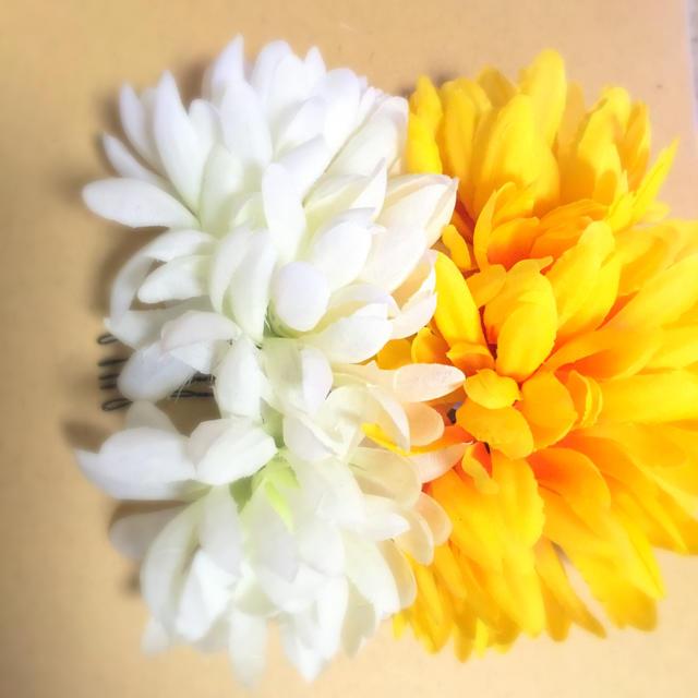黄色・白・ブラウンリボン   髪飾り レディースのヘアアクセサリー(その他)の商品写真