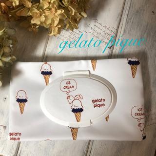 ジェラートピケ(gelato pique)のジェラートピケ☆アイススヌーピー柄おしりふきorウエットティッシュポーチ防水生地(ベビーおしりふき)