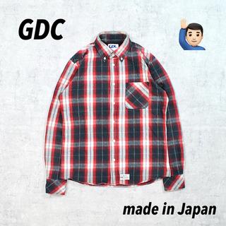 ジーディーシー(GDC)の日本製 GDC ジーディーシー BDシャツ オーバーチェック アメリカン レア(シャツ)
