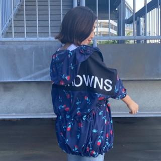 ロデオクラウンズワイドボウル(RODEO CROWNS WIDE BOWL)の新品 柄ネイビー(男女兼用)早い者勝ちノーコメント即決しましょう❗️コメントは❌(ナイロンジャケット)