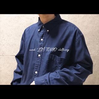 XL CHAPS コットンツイル ビッグシルエット シャツ メンズ 長袖 古着(シャツ)