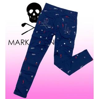 マークアンドロナ(MARK&LONA)のマークアンドロナ  総刺繍  スキニー  ゴルフパンツ  レディース  XS(ウエア)
