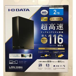 アイオーデータ(IODATA)の★新品 I・O DATA 高速NAS LAN DISK  2TB(PC周辺機器)