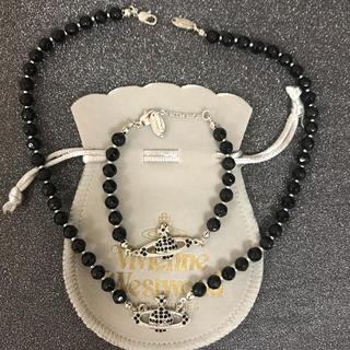 ヴィヴィアンウエストウッド(Vivienne Westwood)の新品 ネックレスブレスレットセット ブラック(ネックレス)
