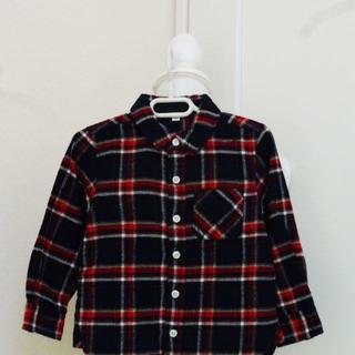ムジルシリョウヒン(MUJI (無印良品))のy88❤MUJI ネイビーチェックネルシャツ 100❤(ブラウス)