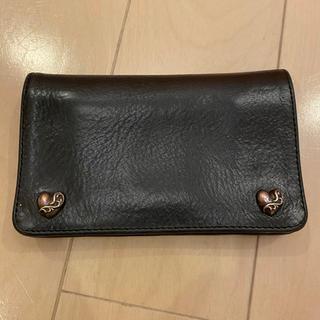 Chrome Hearts - クロムハーツ ウォレット 財布  レザー シルバー925 ウォレットチェーン