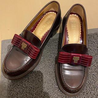 アナスイ(ANNA SUI)のANNA SUI × HARUTA ローファー レッド系(ローファー/革靴)