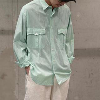 ポーター(PORTER)のporterclassic  ロールアップシャツ ストライプ(シャツ)