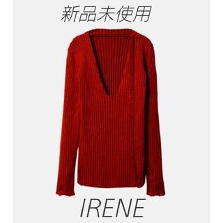 ルシェルブルー(LE CIEL BLEU)のIRENE 🖤 Open Seam Knit ニット 🖤未使用 アイレネ (ニット/セーター)