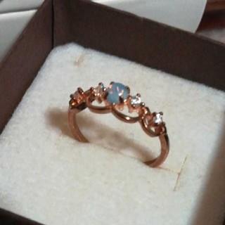 17.5号 ゴールドカラー ファッションリング(リング(指輪))