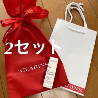 クラランス(CLARINS)の❤️クラランス  2セット ラッピング ラッピング袋 ショッパー ショップ袋(ショップ袋)