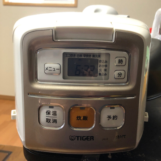 タイガー(TIGER)のタイガーマイコン炊飯器  三合(調理機器)