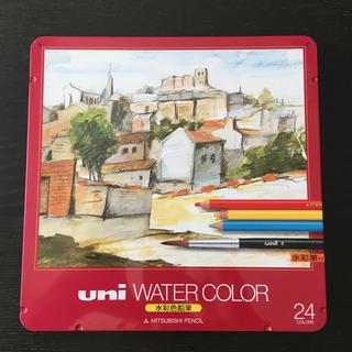 ミツビシエンピツ(三菱鉛筆)の水彩色鉛筆 24本入り uni  water  color(色鉛筆)