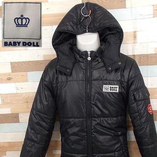 ベビードール(BABYDOLL)の【BABY DOLL】 美品 ベビードール ブラック中綿ジャケット サイズM(ブルゾン)