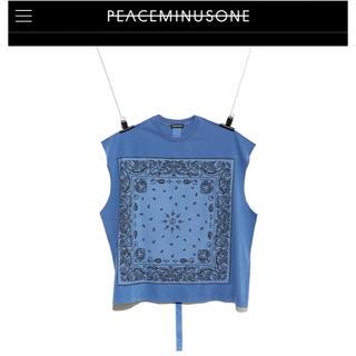 ピースマイナスワン(PEACEMINUSONE)のPEACEMINUSONE BANDANA SLEEVELESS blue(Tシャツ/カットソー(半袖/袖なし))