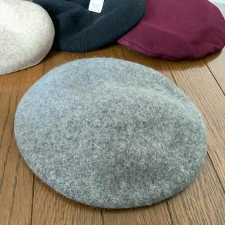 イング(INGNI)のINGNI  ベレー帽 新品 グレー ウール(ハンチング/ベレー帽)