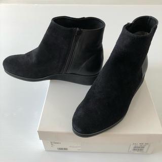 スコットクラブ(SCOT CLUB)の新品◆スコットクラブ 購入◆ 牛革 ショートブーツ 黒 ブラック(ブーツ)