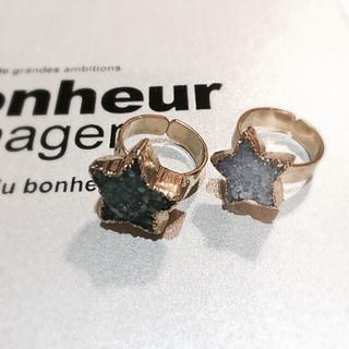 SALE】天然石ドゥルージースターリング(リング(指輪))