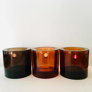 イッタラ(iittala)のiittala × marimekko KIVI 3個セット 廃盤ブラウン(置物)