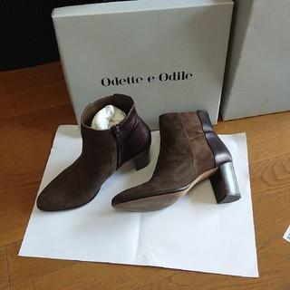 オデットエオディール(Odette e Odile)のOdette e Odile ユナイテッドアローズ ブーツ オリーブ24.5cm(ブーツ)