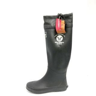 アルファ(alpha)のアルファ レインブーツ S レディース - 黒(レインブーツ/長靴)
