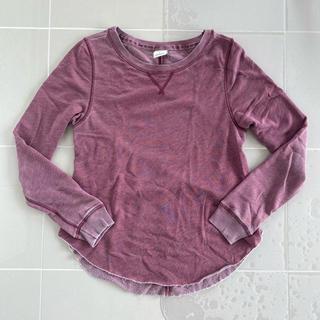 アバクロンビーアンドフィッチ(Abercrombie&Fitch)の背中開き 薄手トレーナー(Tシャツ(長袖/七分))