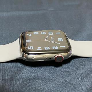 アップルウォッチ(Apple Watch)のApple Watch Edition チタニウム 44mm シルバー チタン (腕時計(デジタル))