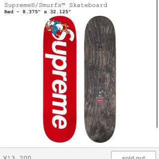 シュプリーム(Supreme)のSupreme Smurfs Skateboard RED シュプリーム 赤(スケートボード)