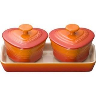 ルクルーゼ(LE CREUSET)のルクルーゼ プチ ラムカン ダムール セット オレンジ(食器)