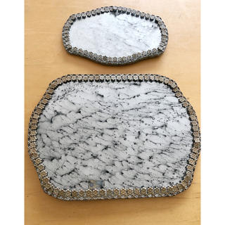ロンハーマン(Ron Herman)のRon Herman ビンテージ 置物 飾り 鏡 トレイ 2枚セット(置物)