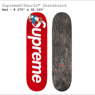 シュプリーム(Supreme)のSupreme®/Smurfs™ Skateboard RED(スケートボード)
