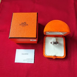 エルメス(Hermes)のエルメスHERMES箱カード付きベルト型リング指輪シルバー46 6号(リング(指輪))