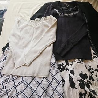 JUSGLITTY - JUSGLITTY人気刺繍ニットコートスカートワイドパンツ福袋まとめ売り
