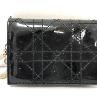 クリスチャンディオール(Christian Dior)のクリスチャンディオール 名刺入れ 黒(名刺入れ/定期入れ)