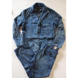 ダブルアールエル(RRL)の新品*RRL*インディゴデニム スポーツコート パンツ セットアップ*M W31(テーラードジャケット)